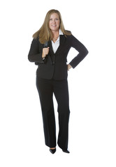 Happy Businesswoman ready for work