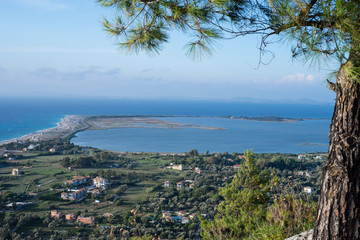 Lefkada city from top
