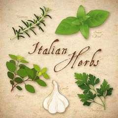 Italian Herbs, Rosemary, Garlic, Oregano, Sweet Basil, Parsley
