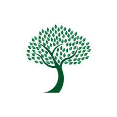 Green leafy tree image logo