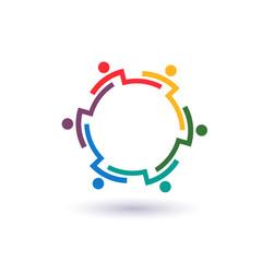 Teamwork 6 circle interlaced logo