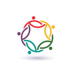 Teamwork 5 international circle logo