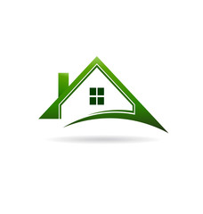 Green houses swoosh logo
