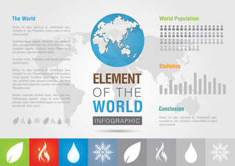Element of the world. Icon symbol signage Info graphic. Creative