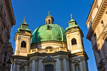 Saint Peter's church on Petersplatz in downtown of Vienna