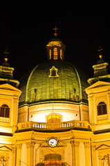 Saint Peter's church at downtown of Vienna by night
