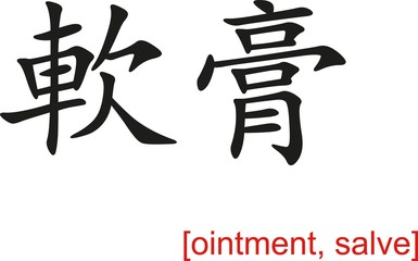 Chinese Sign for ointment, salve