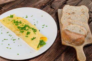 Fresh french omelette