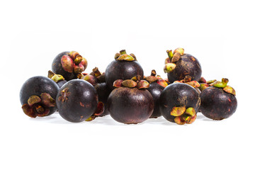 Mangosteen fruit isolated