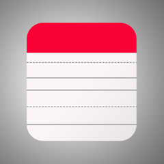 Red Notepad Flat Design
