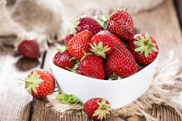 Portion of fresh Strawberries