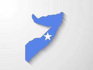 Somalia map with shadow effect presentation