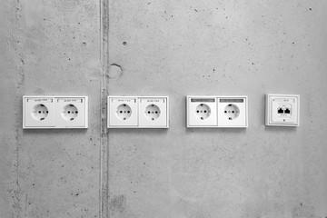 Steckdosen und EDV Anschluss © Matthias Buehner