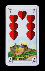 Spielkarten Denkmäler - Herz Sieben - Schloss Altenburg