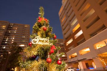 新興住宅街のクリスマス