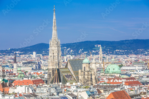 canvas print picture Vienna city centre and Stephansdom