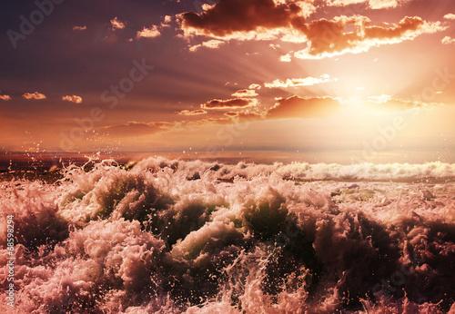 canvas print picture Wave