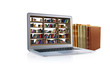 laptop library book - 68598460