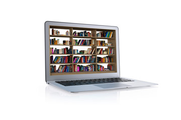 laptop library book