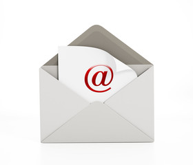 Enveloppe with e-mail icon
