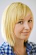 Profil Portrait blond Woman