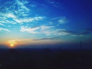 sun rise on the surabaya sky