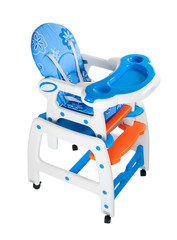 Highchair with table feeding. isolation