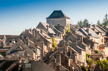 Medieval town of Najac, Aveyron (France)
