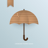 Autumn abstract background with cardboard umbrella