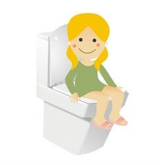 Cristina en el WC