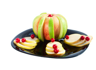 Apples and Pears in Decorative dessert