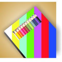 Caja de lapiceros de colores