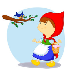 little red riding hood and the bird