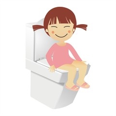 Chinita en el WC
