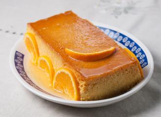 Orange custard