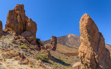 Teide volcano between Roques de Garcia rocks formation