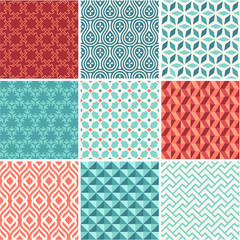 Oriental seamless pattern collection