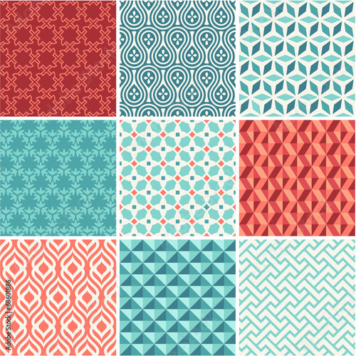 Fototapeta Oriental seamless pattern collection