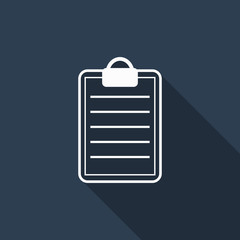 clipboard icon with long shadow