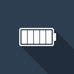 battery icon with long shadow