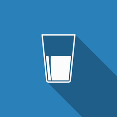 drink icon with long shadow