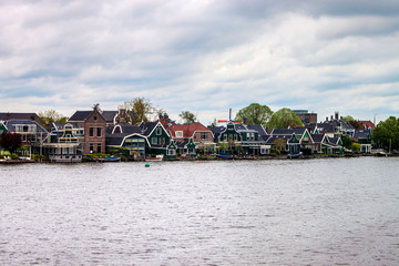 Old traditional houses at Zaanse Schans, Netherlands