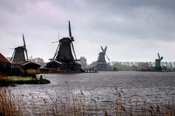 Windmills near Zaanse Schans, Netherlands