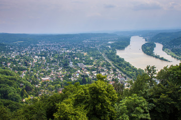 View of Rhine valley