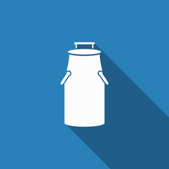 milk can icon with long shadow
