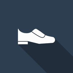 shoe icon with long shadow