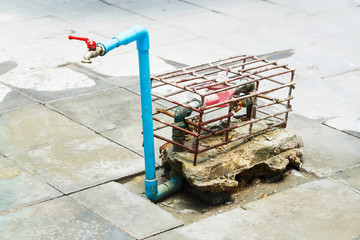 Steel cage on water meter