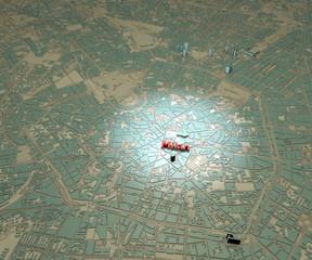 Cartina centro Milano