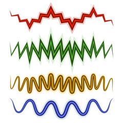 Set of wavy lines