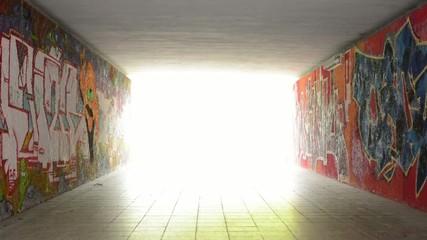 pedestrian underpass - light at end of tunnel